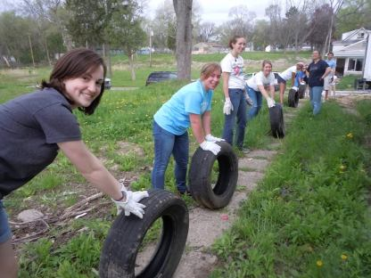 Cherishing the discarded: gathering the raw materials out in Detroit. Photo credit: Faith Fowler.